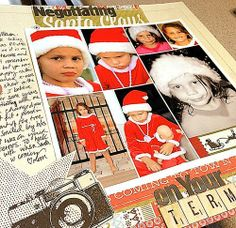 How to Use Picasa to create a large photo collage for your scrapbooking, December Daily & Your December Story.