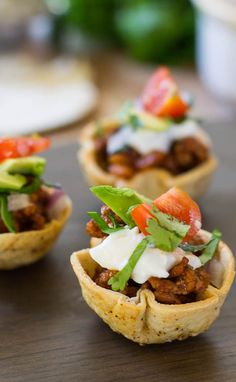 Mini Taco Bites- a great bite-sized appetizer for a football game or holiday party.
