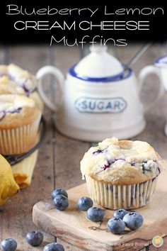 Blueberry Lemon Cream Cheese Muffins   Cooking on the Front Burner
