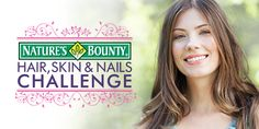 Sign up here, take our Hair, Skin and Nails gummies or tablets for 30 days and you'll feel the difference! If you don't – we'll give you your money back! Fill out the form and you'll be entered for a chance to win a #NaturesBountyBeauty kit – containing almost $200 in prizes to help keep you looking and feeling your best!
