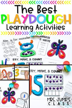 These are the best playdough learning activities for kindergarten because they cover so many different content areas. Students can use playdough letter mats, work on playdough math, or even use playdough to help them write in kindergarten.
