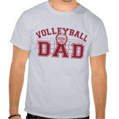 Volleyball Dad T-shirt #sports #tshirt