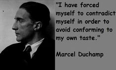 Marcel Duchamp (1887 - 1968), French-American painter, sculptor, chess player, & writer whose work is associated with Dadaism & conceptual art. He earned notoriety for painting a mustached Mona Lisa and making a urinal into a sculpture by inverting it.
