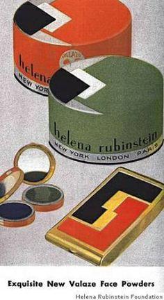 1930'sHelena Rubenstein, love the graphics.