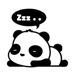 "ZZZ SLEEPING PANDA sleeper JDM Tuner 5"" (color: BLACK) Die-Cut Vinyl Decal Window Sticker for Cars, Trucks, Windows, Walls, Laptops, and other stuff."