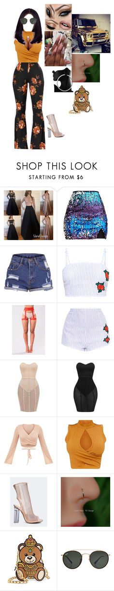 """""""crussing down the street"""" by darkskinqueen ❤ liked on Polyvore featuring Amaya, Wild Diva, Moschino and Ray-Ban"""