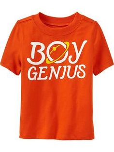 """Boy Genius"" Tees for Baby"