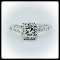 In 1.00 Ct I Vs Egl Eeuu Natural Princesa Anillo Solitario Diamante De Compromiso Novel Design;