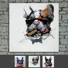 Goedkope Olieverfschilderij op canvas muur foto's schilderijen voor woonkamer kunst aan de muur canvas pop art moderne abstracte hond hand geschilderd 1 verf, koop Kwaliteit Schilderen & Kalligrafie rechtstreeks van Leveranciers van China: Product detail:&nb