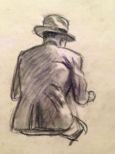 """Study for """"Nighthawks"""", c.1942, Edward Hopper."""