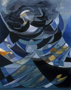 Gallery 1: THE SEA « American Tapestry Alliance; Marianne Poulsen, 2002, haute-lisse, cotton warp, wool, linen, silk, metal threads, 200 x 333 cm, (photo by Jan Djenner)