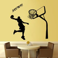 Playing basketball just do it boy's bedroom living room decorative wall stickers remove waterproof paste