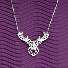 onecklace Are you sensitive and have a strong intuition? Then this is the perfect necklace for your personality! Deer Necklace, Plaque, Hawaii 5, Custom Jewelry, Plating, Just For You, Sterling Silver, Intuition, Parfait