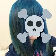 WEBSTA @ rorichoco - #マニパニ#青髪 念願!やりたいのと違うけどこれはこれで好き