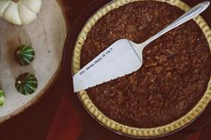 You Wanna Piece of Me? - Hand Stamped Vintage Pie Server | jessicandesigns *fantastic!*