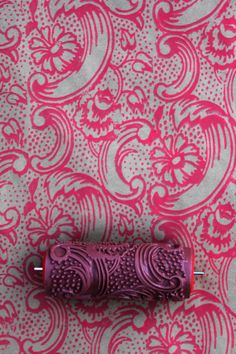 Patterned Paint Roller in Night Dahlia Designby by NotWallpaper, $19.00