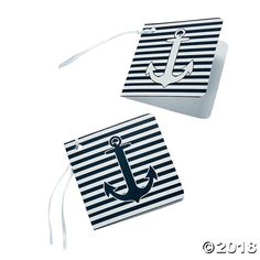 Nautical Wedding Gift Tags - These would be adorable for VBS volunteer thank you tags!  Oriental Trading afil - about 10 cents per card!