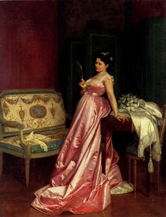 Auguste Toulmouche (1829-1890) The Admiring Glance