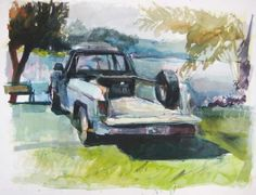 During a three-day workshop Saturday to Monday, June 29 to July 1, the Delaware Watercolor Society will feature Walt Bartman, an extraordinary art educator, as he explores the dynamics of creating color, relationships of color and how color occupies space. Click truck painting to read entire art class article: Walt Bartman to teach color and composition June 29 to July 1
