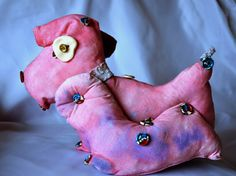Abstract pink dog by OlgaKina on Etsy