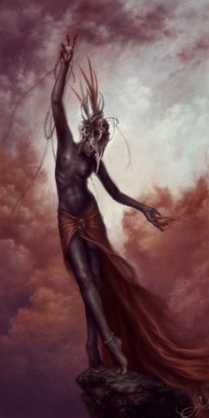 Asase Yaa _ West African. A creator Goddess who comes to fetch souls to the otherworld at the time of death.