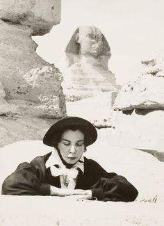 Adrien de Menasce, Photograph of Leonor Fini, Egypt, 1951