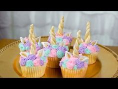 How To Make Unicorn Cupcakes - YouTube