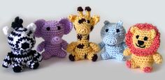Free Crochet Pattern: Little Safari Animals - ༺✿Teresa Restegui http://www.pinterest.com/teretegui/✿༻