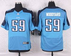 Light Blue Wesley Woodyard Elite Tennessee Titans #59 Home NFL Jersey