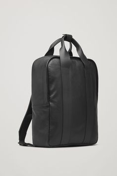 COS image 2 of Grained leather backpack in Black Leather Duffle Bag, Black Leather Backpack, Black Leather Bags, Leather Men, Leather Wallet, Duffel Bag, Men's Backpack, Fashion Backpack, Cos Bags