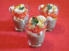 Soul and Kitchen: Bicchierini con mousse di melanzane, mozzarella di bufala e pomodorini