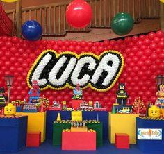 Balões festa Lego