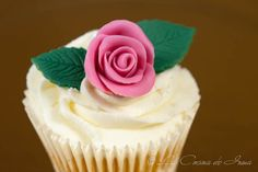Video: Cómo hacer rosas y hojas de fondant / Video: how to make roses and leaves of fondant, video tutorial in Spanish