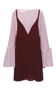 Port Red Washed Silk Tunic Dress - Marni Pre-Spring 2016  - Preorder now on Moda Operandi