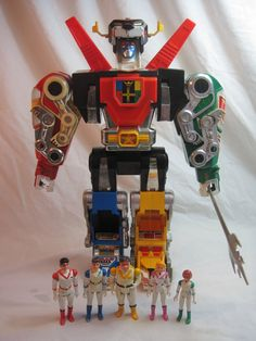 Vintage VOLTRON All 5 Figures and Lions 1984 by FoundUniverse