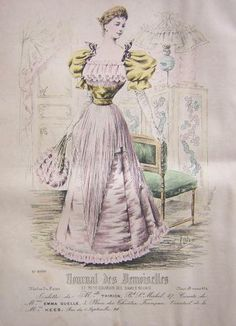 1894. satin ball gown, Journal des Demoiselles