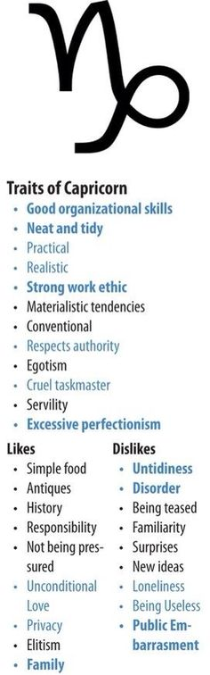 Traits of Capricorn People