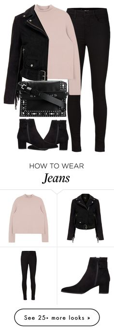 """Untitled #3932"" by london-wanderlust on Polyvore featuring J Brand, MuuBaa, Stuart Weitzman and Givenchy"