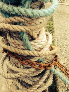 Old ropes and rusty chains