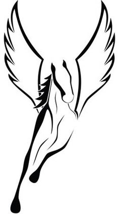 Pegasus Tattoo Design! Will get this one for Katherine.