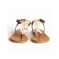 best sneakers 25a21 a1b9b Flower Strung Thong Sandals ( 30) ❤ liked on Polyvore