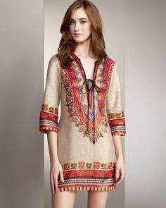 Embroidery Tunic Dress