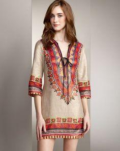 Embroidery Tunic Dress