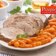 KARKÓWKA PIECZONA W PIWIE Z KARMELIZOWANĄ MARCHEWK... Food And Drink, Turkey, Meat, Cooking, Easy Dinners, Kitchen, Recipes, Turkey Country