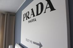 Prada Marfa Wall Art by Fabes Fashion #prada #pradamarfa #wallart #blogger