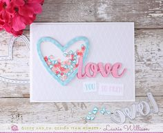 Hey there! It's Laurie Willison here again with another card using the Heart Throb kit from Queen and Company. With all the supplies incl...