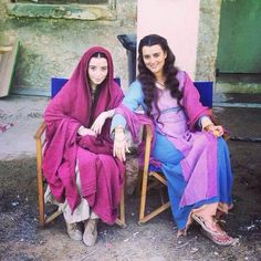 "Cote BTS of ""The Dovekeepers""."