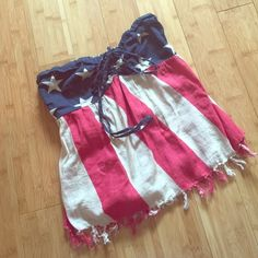 Signature 8 American Flag Tube Top❌FLASH SALE❌ Brand new, never warn Free People Tops Crop Tops