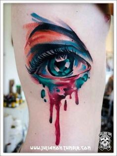 Lucky no. 12, our fellow #Malaysian bud Julian Oh ~ 28 Incredible Watercolor Tattoos And Where To Get Them