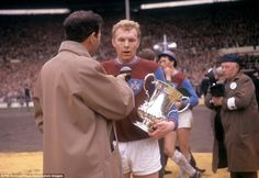 Moore is interviewed after West Ham's victory over Preston in the 1964 FA Cup final - this goes to show that the intrusion of television into sport's biggest occasions is not necessarily a new thing